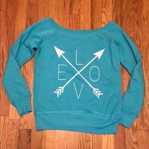 Tops - NBW Love scoop neck sweatshirt
